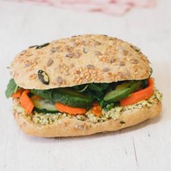 Image de SANDWICH Avocat edamame carottes